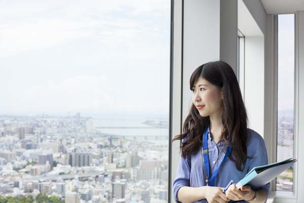 Sakai City, Osaka,Japan,A working woman in an office building.